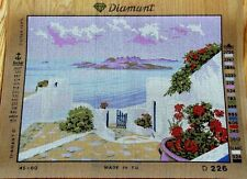 """Needlepoint tapestry canvas.Sea view 17.5""""x23.5"""" Gobelin D226"""