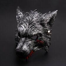 Adult Men's MASQUERADE Wolf Werewolf Devil Demon Costume Half Face MASK VENETIAN