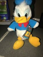 "Vintage Disneyland Walt Disney World Donald Duck Plush 12"" Doll Original Tags"