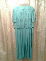Plaza South Blue Mother of the Bride Dress Women 14 USED DadCloset*
