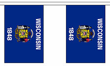 WISCONSIN U.S. STATE 3 metre BUNTING 10 FLAGS flag USA AMERICA AMERICAN