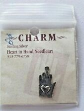 Heart In Hand Heart In Hand Charm Sterling Silver Cross Stitch