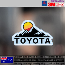 Toyota Land Cruiser Hilux 4runner 4WD 4x4 Sun Decal Stickers 104 mm x 71 mm
