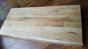 Large Solid Oak Wood Chopping Board Butchers Block 600mm x 300mm x 40mm