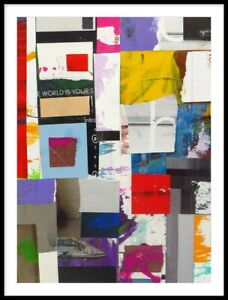 Original Abstract Mixed Media Collage