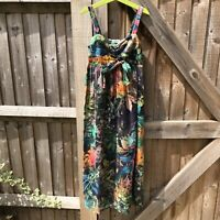 Next Girls Tropical Floral Print Summer Maxi Dress Age 10 Years VGC