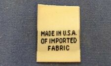 1000Pcs White Woven Taffeta Clothing Label Tag Made In USA of Imported Fabric