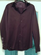 BROWN LONG  SLEEVED SHIRT, SIZE SMALL