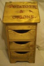 potatoe and onion bin regular style  now with 3 drawers and bottom design
