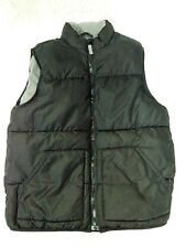 Youth L Black Padded OLD NAVY Sleeveless Vest with Fleece Lining