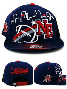 New England New Leader Youth Kids Skyline Patriots Blue Red Era Snapback Hat Cap