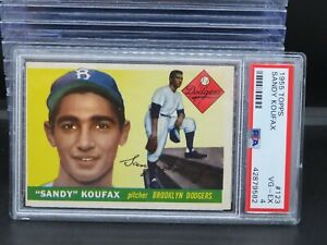 1955 Topps Sandy Koufax Rookie Card RC #123 PSA 4 Dodgers O89