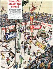 Stuart Hay Beech Nut Three Ring Circus GUM Flying Trapeze Cartoon 1934 Print Ad