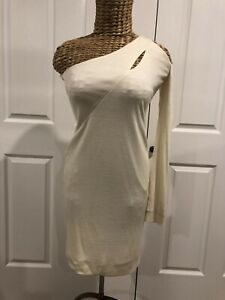 WHITE SUEDE DRESS SIZE 8 NEW WITHOUT TAGS