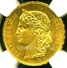 SWITZERLAND 1891 B GOLD COIN 20 FRANCS * NGC CERTIFIED GENUINE MS 61 * PRISTINE