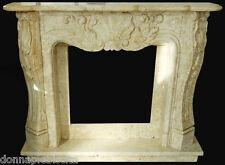 Camino Travertino lavorato a mano Travertine Fireplace stile Classico Luigi XVI