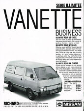 PUBLICITE ADVERTISING  1987   NISSAN   VANETTE BUISNESS