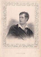 1840 Viktorianisch Aufdruck ~ Porträt Von Lord Byron