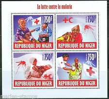NIGER 2013  BATTLE AGAINST MALARIA SHEET OF FOUR MINT NH