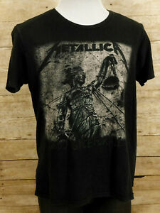 Metallica And Justice For All T Shirt Mens Large Short Sleeve Black