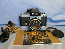 1973 Nikon F2 Photomic Kit Nikkor-S 50mm f/1.4 Lens DP-1 EXC!! READY FOR FILM!