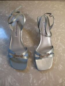 Nine West Dyeables for Easy Spirit 6B White Satin Leather Sole GLORY Heel Shoe