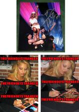 TRISH STRATUS signed Autographed 8X10 PHOTO A - PROOF - WWE Diva Champ COA