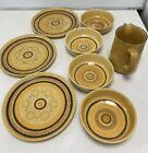 Vintage Franciscan Honeycomb Design Pottery Breakfast Set Bowls/Plates/Jug #504