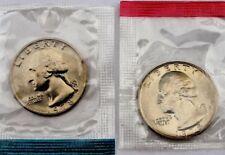 1978 TWO COIN SET BOTH P&D MINTS WASHINGTON QUARTERS BU IN US MINT CELLO WRAP