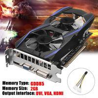 GTX750Ti 2GB GDDR5 128Bit PCI-E VGA DVI HDMI Grafikkarte Für NVIDIA GeForce
