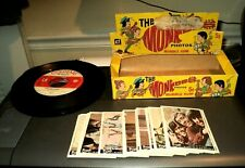 1967 MONKEES TRADING CARDS: Series A 44 Card Set Puzzle: Box: 6 Records Lot
