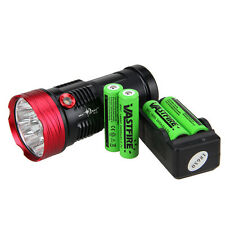 28000Lumen SKYRAY 10x XM-L T6 LED Flashlight Torch Light+4x18650+2x Charger