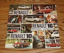 Original 1970 Renault Compact Cars Sales Brochure 70 10 16 Sedan Wagon