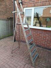 DECORATORS WOODEN 6 RUNG STEP LADDER WITH TOOL TRAY (LE65)