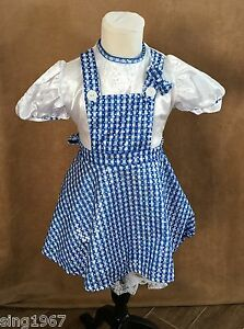 S Girls Dorothy Wizard of Oz Costume Rubie's Deluxe small dress childs sparkle