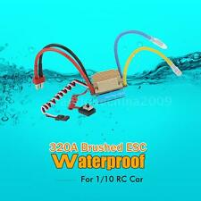 WATERPROOF 320A BRUSHED ESC W/ 5V/3A BEC T-PLUG FOR 1/10 RC CAR NEWEST W7K9