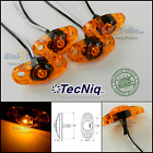 4 - Tecniq Amber Led Light Clearance Marker Trailer Truck Surface Mount 2 Wire
