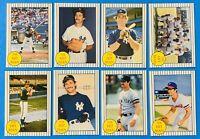 (8) 1986 Galasso Don Mattingly 'The Hit Man' Baseball Card Lot New York Yankees