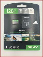 PNY 128GB Elite-X Class 10 U3 V30 microSDXC Flash Memory Card - Water Proof
