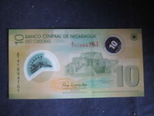 NICARAGUA 10 CORDOBAS 2012 NEW -  WHITE NUMBERING - POLYMER UNCIRCULATED