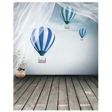 Wooden Floor Balloon Photography Backdrops Photo Studio Background 5x7ft O7S9