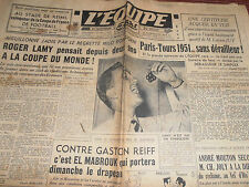 L'EQUIPE FOOTBALL REIMS VAINQUEUR COUPE DE FRANCE  LAMY COUPE DU MONDE -  1950