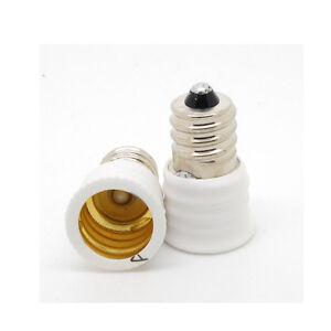 US E12 to European E14 Candelabra Base Socket LED Light Bulb Lamp Adapter