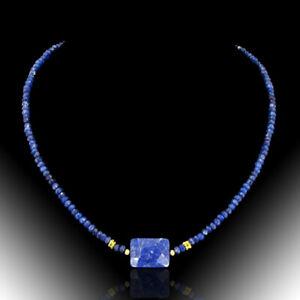 BAILYSBEADS edle designer Saphir Halskette Kette Collier neu 46cm PA28