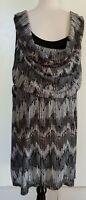 CITY CHIC Greys/Black Stretch Knit Dress Size M