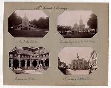 PHOTO Sainte Anne d'Auray Bretagne La Scala Sancta Basilique Hôtel de Ville 1900