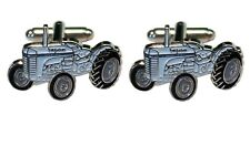 Ferguson TE20 Little Grey Fergie Vintage Farm Tractor Metal Enamel Cufflinks NEW