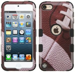 iPod Touch 5th 6th & 7th Gen - HYBRID HIGH IMPACT ARMOR SKIN CASE COVER FOOTBALL