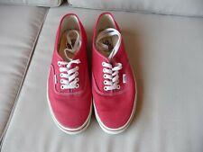 Détails sur Vans Sk8 Hi Toile Pompes Rouge Homme Femme à Lacets Chaussures afficher le titre d'origine