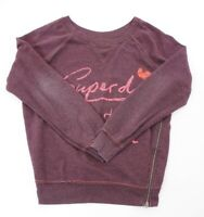 Superdry Damen Sweatshirt Gr.S rot uni Rundhals -RP536